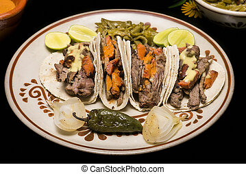 mexicano, carne de vaca, Tacos