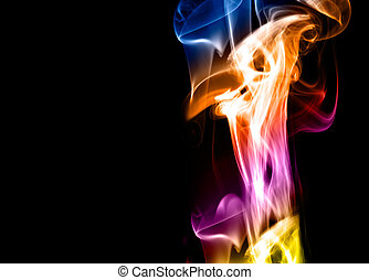Colorful Abstract Background - A colorful smoke style...