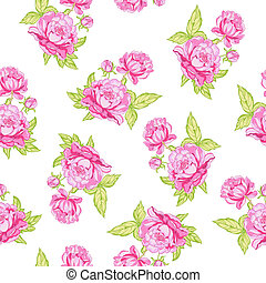 Rose seamless background Vector illustration
