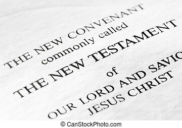 The New Testament in the christian bible - macro detail