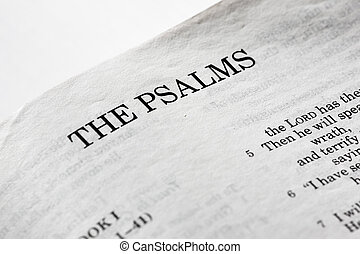 The Psalms - A macro detail of the book of psalms