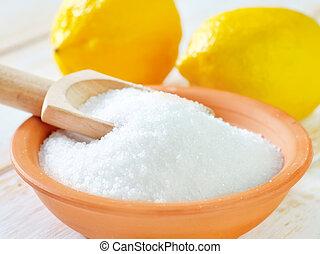 limón, ácido