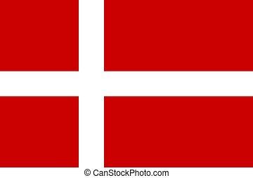 Flag of Denmark - Official flag of Denmark nation