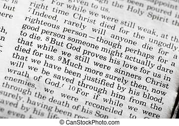 Romans 5:8, a popular verse in the Christian New Testament
