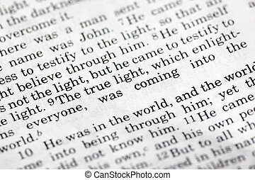 John 1:9, a popular Bible verse from the New Testament