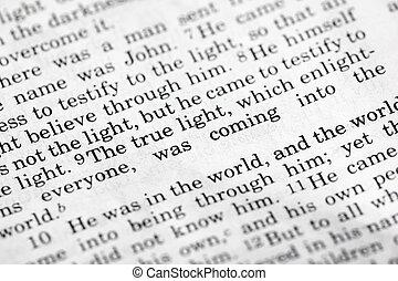 John 1:9, a popular Bible verse from the New Testament