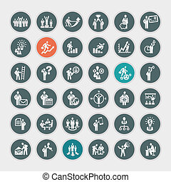 Set of business concept icons - Business concept icons