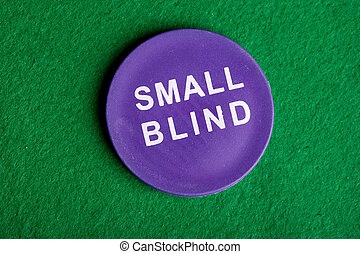 Small Blind - A small blind chip viewed from above