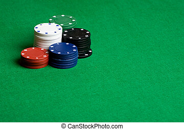 Casino Background - A background with poker chips and green...