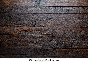 rustique, bois, table, fond, sommet, vue