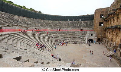 ancient amphitheater in Aspendos Turkey