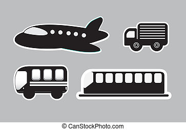 transport - means transport over gray background vector...