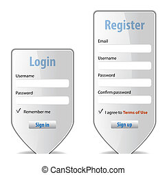 Login form website interface design element Vector...