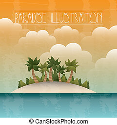paradise background - paradise with island and sea...
