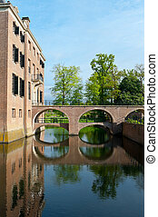 Amerongen - Bridge over the Moat in the early Morning