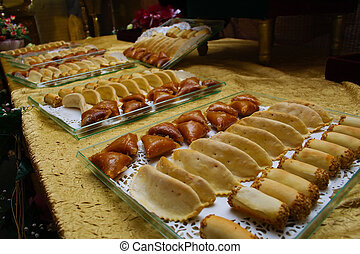 Oriental pastries at wedding - Oriental pastries at a...