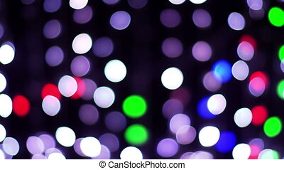abstract light patterns and motion made from colourd bulbs