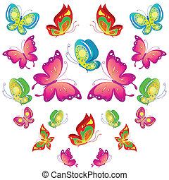 butterflies desig,summer background - it is created in the...