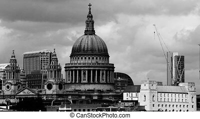 view of st pauls cathedral, london, uk