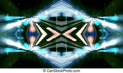 abstract pattern made from time-lapse traffic and street...
