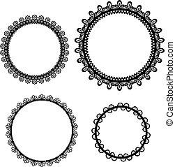 Set of vintage frame design, vector illustration