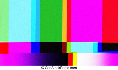 a tv testcard pattern