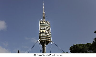 Timelapse shot of the Torre de Collserola communication...
