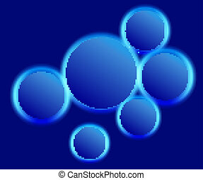 Energy Glowing Circles Background