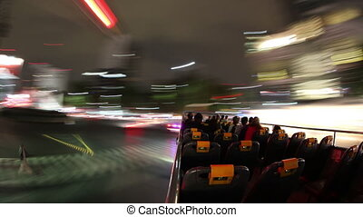 time-lapse shot from the mexico city tourist bus