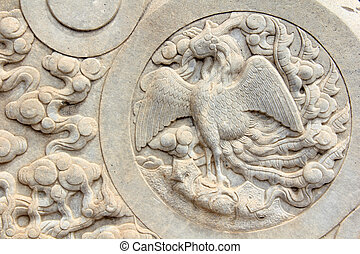 Zunhua, May 13: Stone carvings works in the Eastern Royal...