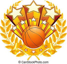 バスケットボール, ベクトル, 紋章