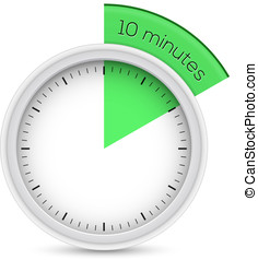 Stop-watch 10 Minutes Timer - Vector illustration of 10...