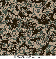 Digital Camouflage Pattern. Seamless Texture. - Digital...