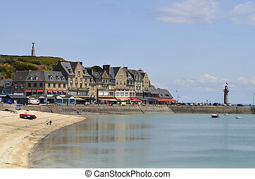 France, Brittany, Cancale - well known for oyster farming