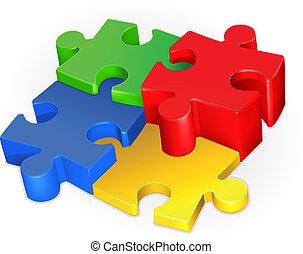 Puzzle, vector