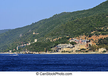 Greece, Athos - Greece, Mount Athos, Xenofontos monastery...