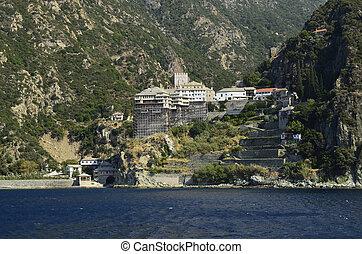 Greece, Athos peninsula, Monastery Dionyssiou
