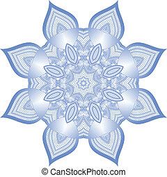 Vector guilloche rosette - Vector blue round guilloche...