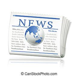 World news, vector icon