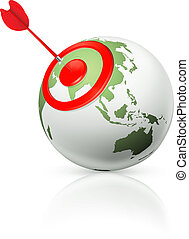 World target, vector icon