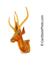 Deer head on a white background.