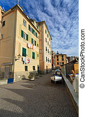 Liguria - Sori - urban view in Sori, small village in...