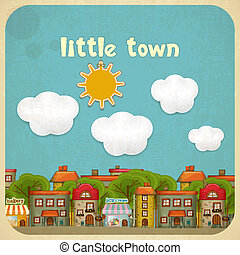Little Town Color Houses - Little Town. Townhouses in a...