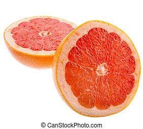 Grapefruit - Juicy grapefruit isolated on white background