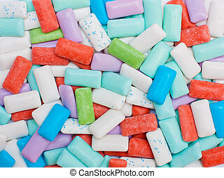 Sugarfree chewing gum - Texture made out of many chewing gum...