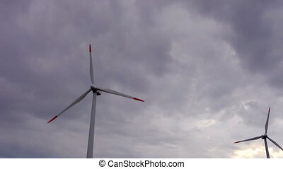 wind power turbines providing clean alternative energy