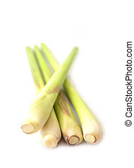 Fresh Lemon Grass isolated on white background