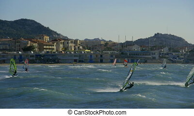 windsurfers in marseille