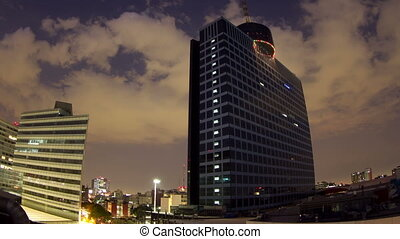 time-lapse of the world trade centre building in mexico city