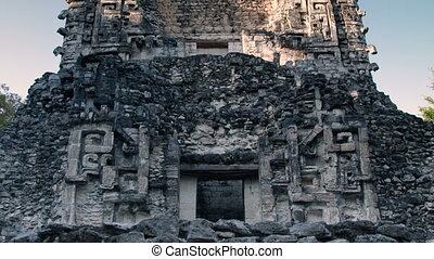 time-lapse of the mayan ruins at xpujil, mexico the mayans...